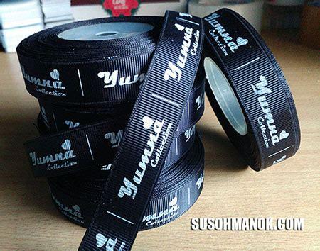 Label Baju Bahan Pita Tafeta Ukuran 1 2 Inchi jasa cetak label baju di bekasi lengkap berkualitas
