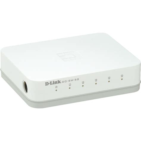 D Link 5 Port Gigabit Unmanaged Desktop Switch Dgs 105 E d link 5 port gigabit unmanaged metal desktop switch go