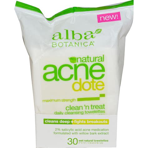 Alba Detox Wipes alba botanica acne dote daily cleansing towelettes
