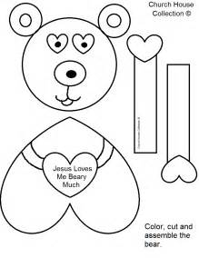 free printable craft templates craft jesus you beary much