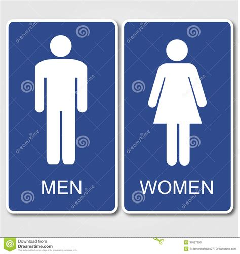 Sign For Bathroom by Restroom Signs Stock Photo Image 37627750
