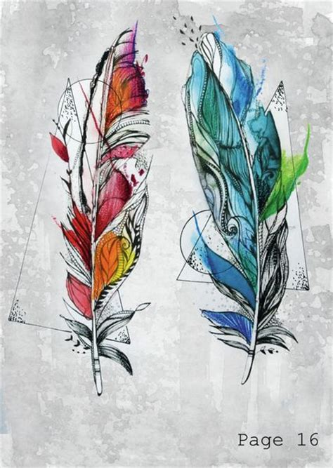 watercolor tattoo feder best 25 watercolor feather ideas on feather