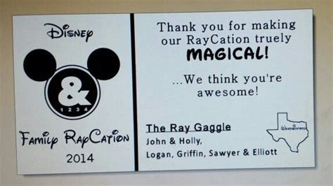 Disney Thank You Cards For Cast Members