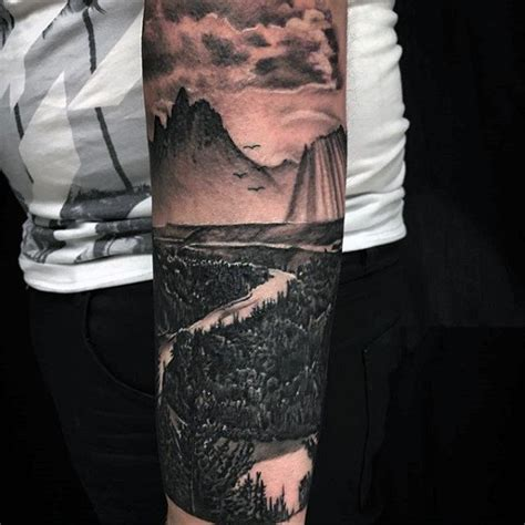 simple and amazing landscape tattoo golfian com
