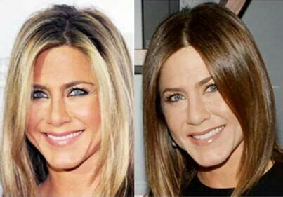 brown hair to blonde hair transformations jennifer aniston hair transformation blonde to chestnut