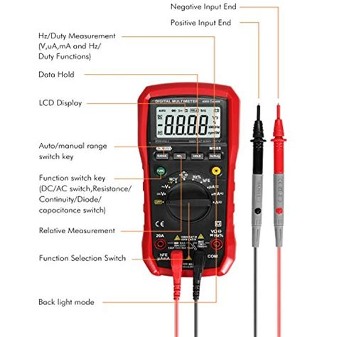 how to test a diode with a ohm meter dr meter digital multimeter tester non contact voltage detection multi meter standard