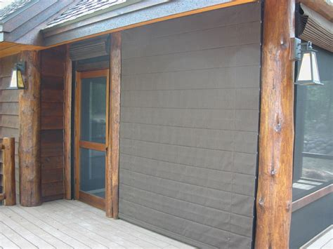 porch shades block wind traditional exterior