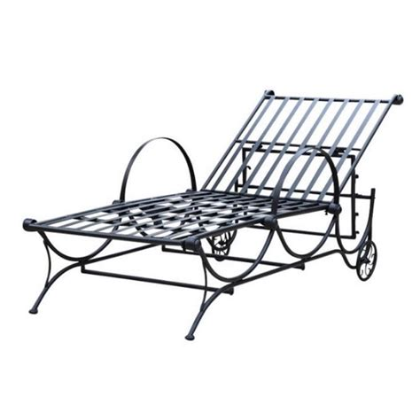 iron chaise lounge bowery hill iron patio chaise lounge bh 373579