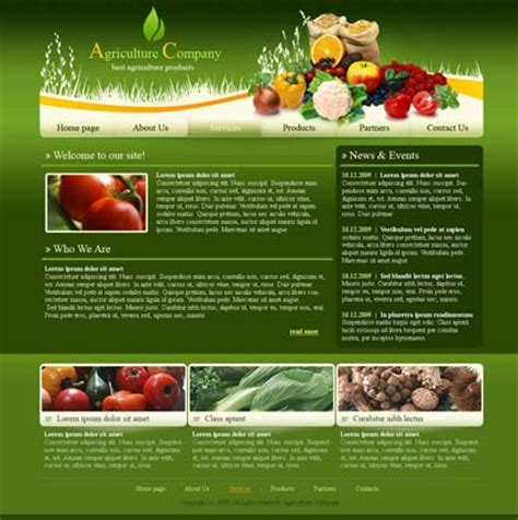 agriculture html website template best website templates