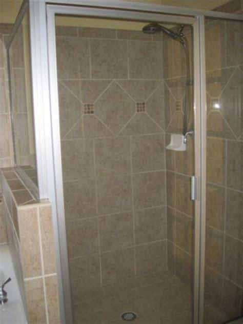 redoing bathroom shower shower stall bathroom redo