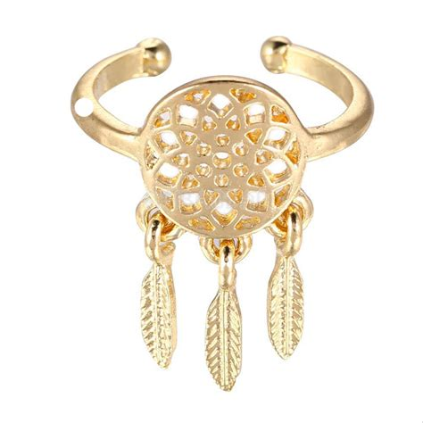catcher ring dreamcatcher rings feather pendant catcher wish ring