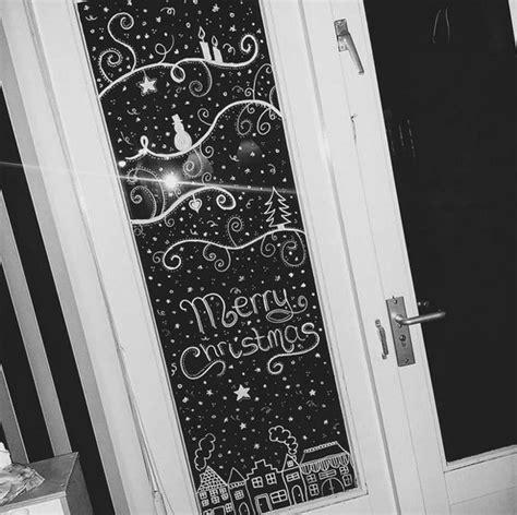 Weihnachtsdeko Fenster Kreide by Kerstversiering Raam Krijtstift 1 Kerst