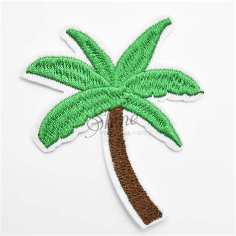 palm tree iron on motif shine trimmings fabrics