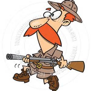 Cartoon big game hunter by ron leishman toon vectors eps 9873