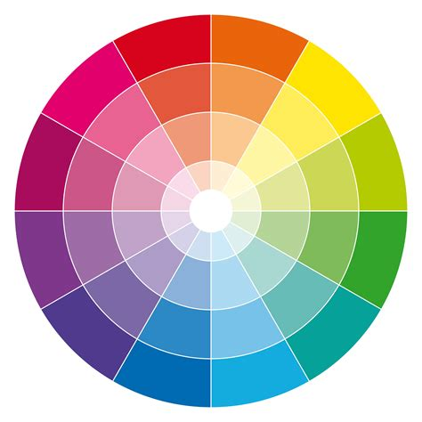 color wheeel 12 hour rgb cmyk color wheel with tones and tints color