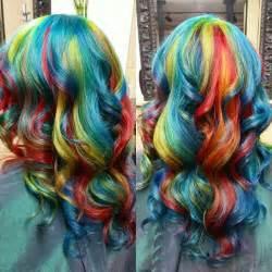Rainbow hair in primary colors hair colors ideas