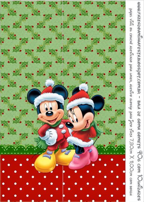 wallpaper disney natal minnie y mickey especial navidad etiquetas para imprimir