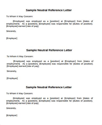 example of reference letter 11 samples in word pdf