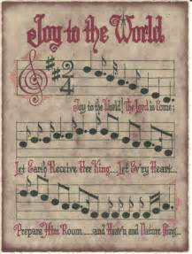 Holiday Home Decorating Joy To The World Christmas Sheet Music Design Embroidery