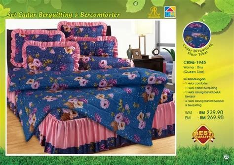 Sarung Bantal Retro 3 set cadar ropol berquilting 4you from me all you need