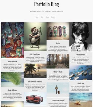 Templates Blogger Portfolio | portfolio blog responsive blogger template 2014 free download