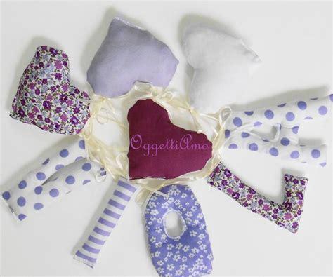 lettere di stoffa ghirlanda di lettere di stoffa per decorare la cameretta