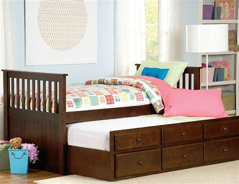 twin trundle bed with drawers zachary twin twin trundle bed with drawers by home elegance kid room place chicago
