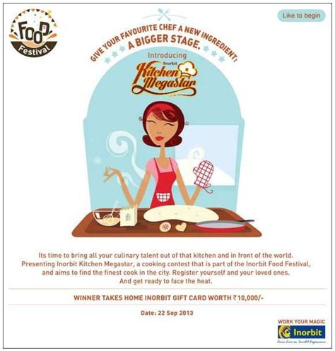 Inorbit Gift Card - inorbit kitchen megastar cooking contest on 22 september 2013 at inorbit mall vashi