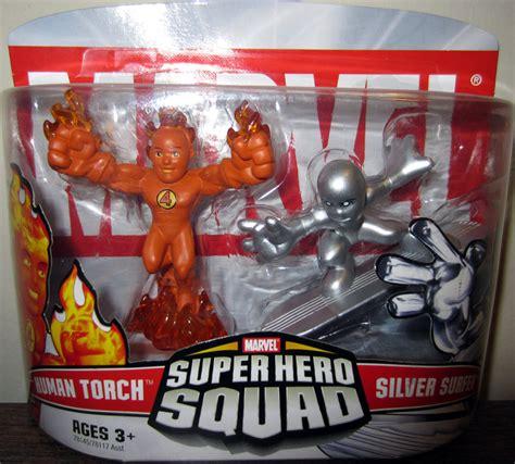 Figure Transformers Shs human torch silver surfer figures squad