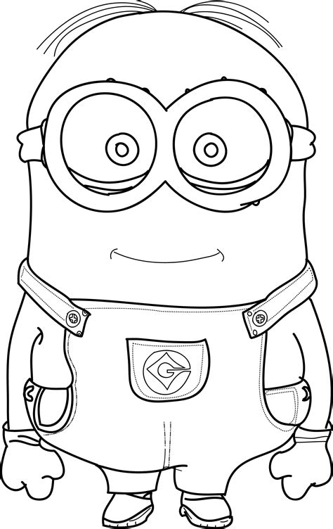 cool coloring minions coloring pages wecoloringpage minion coloring