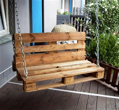 design ideas with pallets eye catching diy reclaimed pallet porch swing ideas
