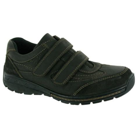 mens black velcro sneakers cotswold mens winchombe black velcro shoes marshall shoes