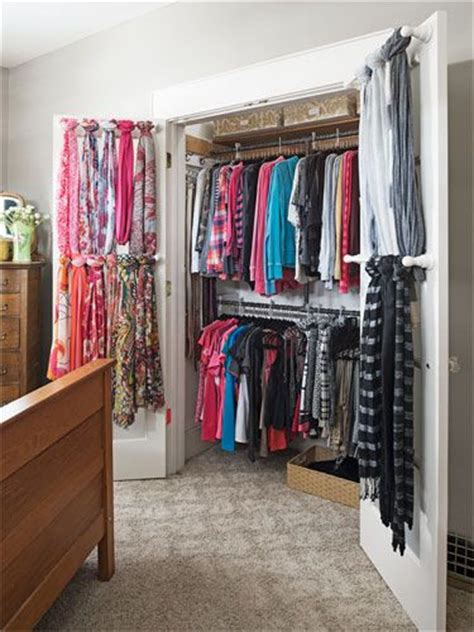 organize scarves in closet 1000 ideas about scarf storage on scarf