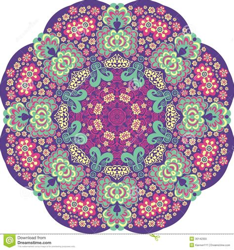 flower pattern in circle flower circle royalty free stock photo image 30142355