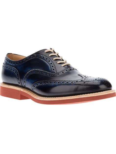 church s downish brogue shoe in blue for navy lyst