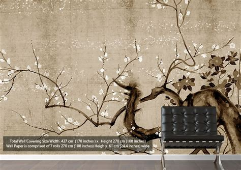 japanese wallpaper for walls uk japanese flowers modern brown wallpaper printed wall paper