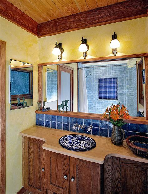 mexican bathroom decor trendy twist to a timeless color scheme bathrooms in blue