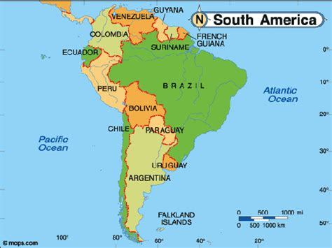 destination maps south american vacations