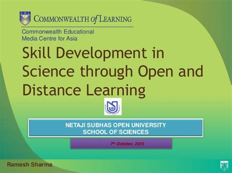 Distance Mba Programs In Kolkata by Skill Development In Science Through Open And Distance
