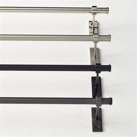 west elm curtain rods pin adjustable metal rod