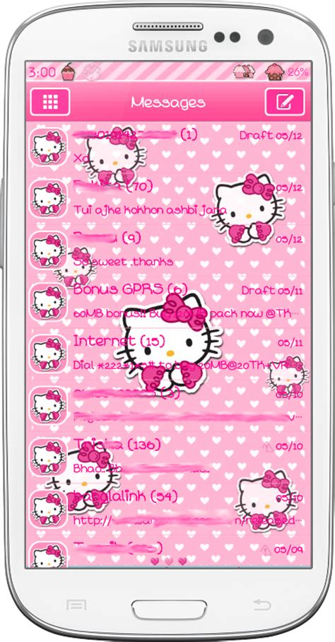 go sms themes hello kitty black pretty droid themes hello kitty go sms theme