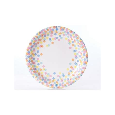Baby Shower Paper Plates by Confetti Dot Paper Plates