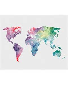Watercolor World Map by 25 Best Ideas About World Map Art On Pinterest Travel