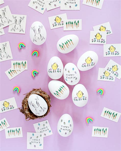 How To Make A Temporary With Regular Paper - diy illustrated temporary easter eggs