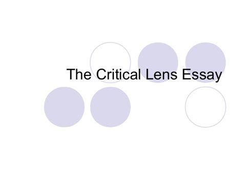 Exle Critical Lens Essay by Critical Lens Studs Vs Duds 2 0