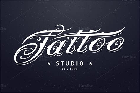 tattoo shop logo design 13 templates free photoshop vector design ideas