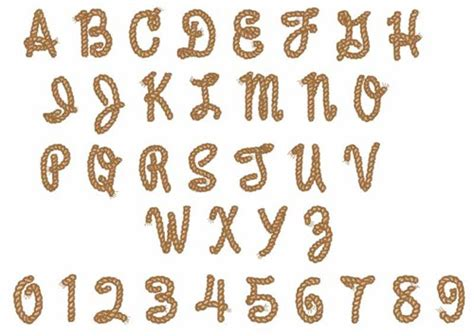 printable rope letters embroidery font rope alphabet font from great notions