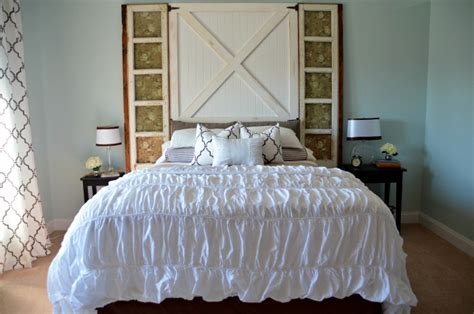 How To Make A Door A Headboard by How To Build A Barn Door Headboard Diy Headboard Home