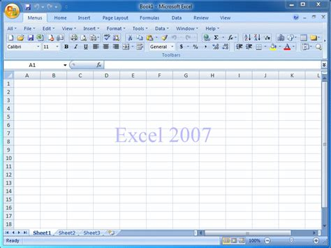 Microsoft Excel 2007 demo of classic menu for excel 2007