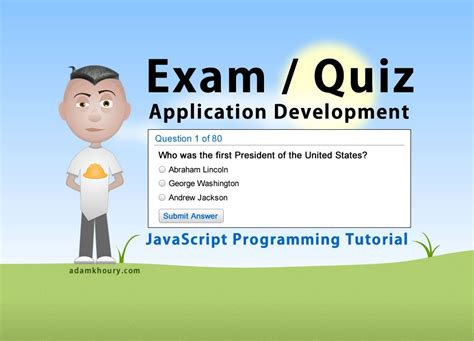design online exam website exam application programming tutorial javascript quiz